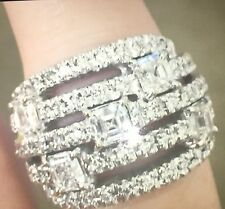 ANTM Ring- modern contemporary wide band 18kt white gold diamond ring 2.56 carat
