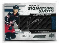 2019-20 UPPER DECK ENGRAINED ROOKIE SIGNATURE SHOTS STICK ALEX TEXIER /249