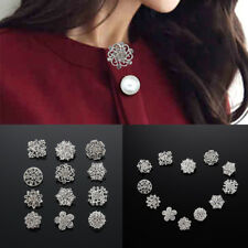 A Pack Of 12 Elegant Silver Diamante Bride Flower Brooch Wedding Broach New