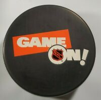 GAME ON!  NHL VINTAGE VEGUM TRENCH MFG. OFFICIAL HOCKEY PUCK - SLOVAKIA RARE
