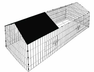 Metal Chicken Rabbit Pet Small Animal Cage Crate Run Exercise Playpen Enclosure