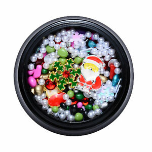 Nail Christmas Ornament Vivid Beautify Nails Lightweight Delicate for Manicure