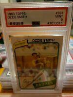 1980 Topps #393 Ozzie Smith San Diego Padres MINT PSA 9 Graded Baseball Card MLB
