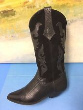Seychelles 84902 Womens Size 7.5 Fashion Cowboy Boots Black Distressed Indie