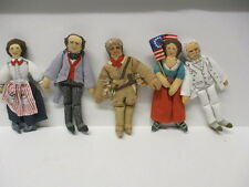 1979 Hallmark Cloth Doll Lot Barton Barnum Crockett Ross Twain Excellent Shape