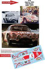 DÉCALS 1/43 réf 574 Renault Alpine 1600  Patt Moss Monte Carlo 1972