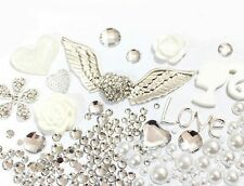 Bling Cell Phone Case Deco Kit: Winged Heart, Matching Rhinestones Cabochons
