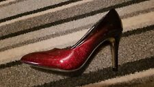 jm diamant shoes heels glitter black and red shiny ombre Size 38