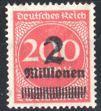 Weimar Republic German Empire 1923 Overprinted Stamp 2mill on 200mark