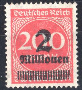 Weimar Republic German Empire 1923 Overprinted Stamp 2mill on 200mark