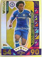 Match Attax 2016/17 Premier League - LE4 Gold Willian - Limited Edition