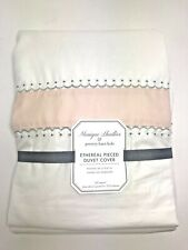 Pottery Barn Kids Monique Lhuillier Ethereal Pieced Duvet Queen Blush Pink NWT
