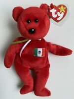 NEW *RARE* 1999 TY Beanie Babies Osito Red Bear MWMT *ERROR on Tag* Mexico