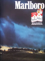 PUBLICITÉ DE PRESSE 1987 COME TO FAVOR MARLBORO THE NUMBER ONE - HARDE CHEVAUX