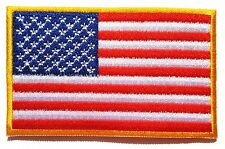 Ecusson patch brodé thermocollant drapeau américain USA  8 x 5 cm.