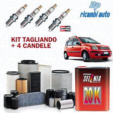 KIT 3 FILTRI TAGLIANDO +OLIO SELENIA 20K +4 CANDELE FIAT PANDA 169 1.2 BZ 51 KW