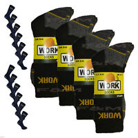 New 15 Pairs Mens Ultimate Work Boot Socks Size 6-11 Cushion Sole Reinforced Toe