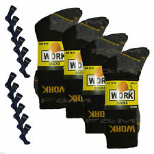 New 24 Pairs Mens Ultimate Work Boot Socks Size 6-11 Cushion Sole Reinforced Toe