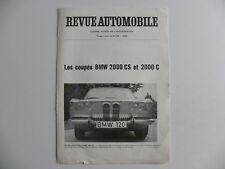 Brochure Automobile revue Suisse BMW 2000 CS et 2000 C de 1965