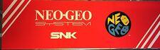 "Neo Geo Snk Generic Arcade Marquee 26"" x 8"""