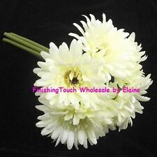 Gerbera Faux Silk Dried & Artificial Flower Bunches
