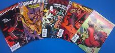 HAWKMAN lot (5) #34 #35 #36 #38 #39 (2005) DC Comics FINE
