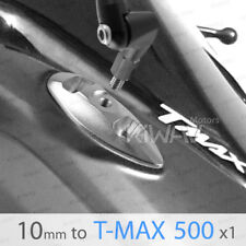 silver mirror adapters M10 standard to fairing mount for TMAX 500 ε
