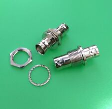 (2 PCS) BNC Double Female Chassis Mount Adapter Connector - USA Seller
