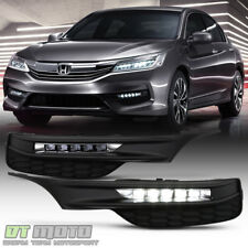 For 2016-2017 Honda Accord Sedan LED Bumper Fog Lights Driving Lamps w/ Switch