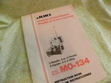 Juki Manual MO-134  HTF Manual