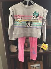 Disney Girls Mickey & Minnie Mouse Shirt/Pant Set Size 6x ~ New With Tags! Cute!