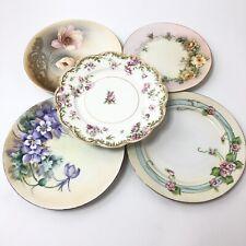 Eclectic Set of 5 Various Vintage Salad Plates Haviland Limoges Nagoya Nippon