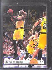 1993 Classic Draft Picks Gold Set Autograph Chris Webber No 217 of 3000