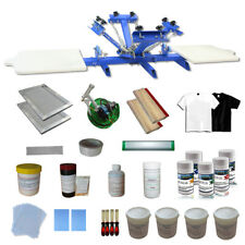 New 4-2 Screen Printing Press with Materials Starter Screen Printing Kit 006937