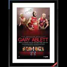 GOLD COAST SUNS GARY ABLETT JNR SIGNED AND FRAMED BROWNLOW MEDAL LITHOGRAPH