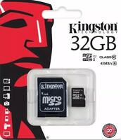 32GB KINGSTON MicroSD SDHC Memory Card 45MB/s UHS 1 Class10 with Adapter.GENUINE