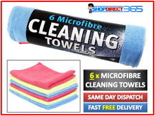 6 x Kent Microfibre Cleaning Cloth Towels Multi Purpose Car House Dust NEW Q6600