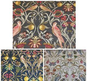 Edinburgh Weavers Liberty Floral/Birds Linen Rich Fabric, Upholstery/Curtains
