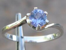 .48ct TANZANITE RING in STERLING SILVER, NICE COLOR, BYPASS RING, 4.7mm,SIZEABLE