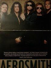 Aerosmith Steve Tyler lot press spanish articles report magazine