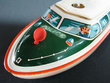 VINTAGE GERMAN TIPPCO TIPP&CO TIN TOY POLICE BOAT BATTERY OPERATED GERMANY >>