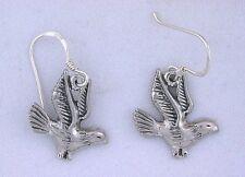 Dove Bird Earwire Dangle Earrings .925 Pure Solid Sterling Silver ebs5219