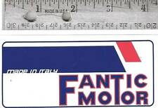 "Fantic Motor original logo decal, Made In Italy 4 3/8"" long"