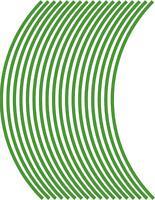 5mm wheel rim tape striping stripes stickers L GREEN..(38 pieces/9 per wheel)