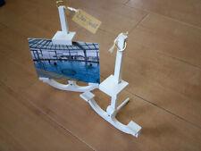 Porte photo bois ancre déco marine Bretagne 10 11,5 x15 chevalet blanc artisanat