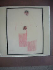 "R.C. Gorman 1977 Large Ceramic Tile, Title ""Taos Pueblo Woman"" 119"