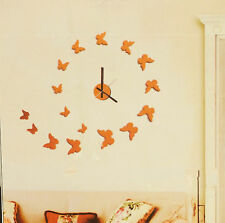 Hommy DIY Modern Room Interior Decoration Wall Clock - Butterfly - Red