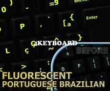 Glowing Portuguese Brazilian keyboard sticker