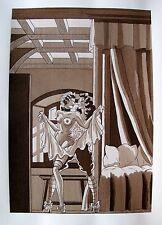 JEAN GRADASSI Memoirs of Cardinal Dubois 1950 Illustration EROTIC ART