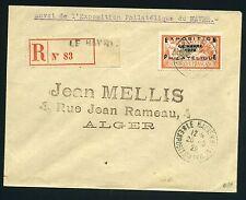 """FRANCE N° 257A  """" EXPO DU HAVRE 1929 """" OBLITERE SUR ENVELOPPE, SIGNE A VOIR"""